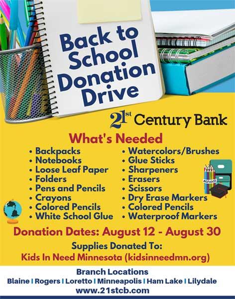 School Donation Drive 2019