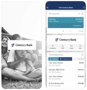 21st Century Bank mobile app